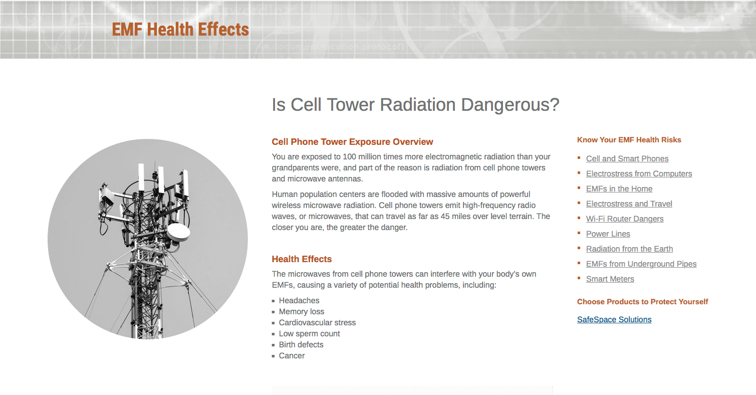 Is Cell Tower Radiation Dangerous? • ZERO5G